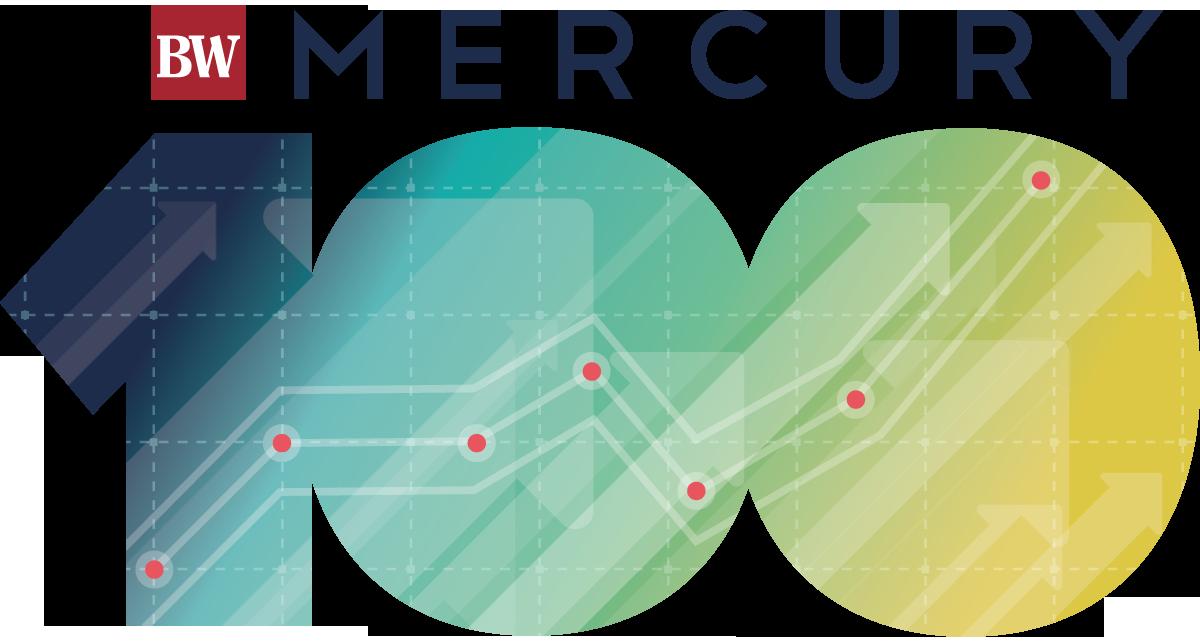 BizWest presents Mercury 100 logo